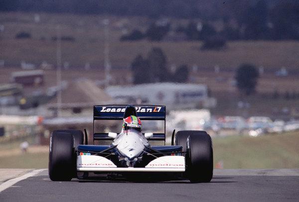 1992 South African Grand Prix.Kyalami, South Africa. 28/2-1/3 1992.Eric van de Poele (Brabham BT60B Judd) 13th position.Ref-92 SA 32.World Copyright - LAT Photographic