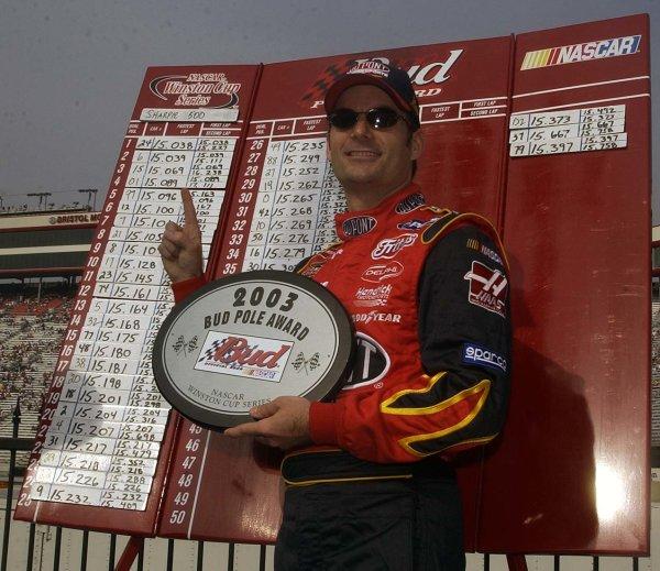 2003 NASCAR-Sharpie 500. Bristol Tenn USA,Aug 22-23,Jeff Gordon wins pole,World Copyright -RobertLeSieur ,July,2003LAT Photographic-ref: digital image