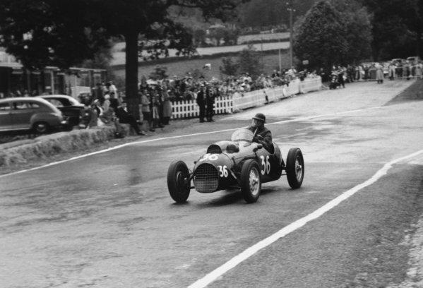 1952 Belgian Grand Prix.Spa-Francorchamps, Belgium. 22 June 1952.Ken Wharton (Frazer-Nash FN48). Ref-52/24 #14.World Copyright - LAT Photographic