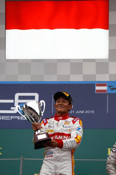 2015 GP2 Series Round 4. Red Bull Ring, Spielberg, Austria. Sunday 21 June 2015. Rio Haryanto (INA, Campos Racing)  Photo:  Sam Bloxham/GP2 Media Service ref: Digital Image _G7C6508