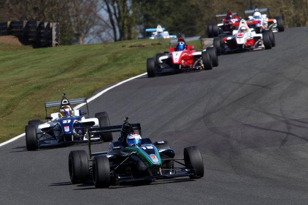 2015 BRDC Formula 4 Championship, Oulton Park, Cheshire. 4th - 6th April 2015. Zubair Hoque (GBR) SWR BRDC F4. World Copyright: Ebrey / LAT Photographic.