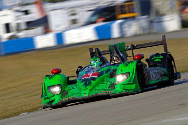 12-15 March, 2014, Sebring, Florida, USA #1, Honda, HPD ARX-03b, P, Scott Sharp, Ryan Dalziel, David Brabham ©2014, F. Peirce Williams LAT Photo USA