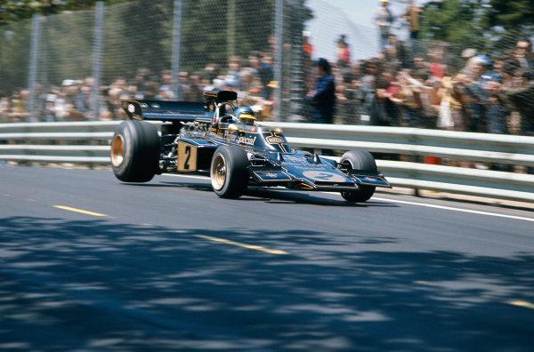 Montjuich Park, Barcelona, Spain.27-29 April 1973.Ronnie Peterson (Lotus 72E Ford).Ref-73 ESP 68.