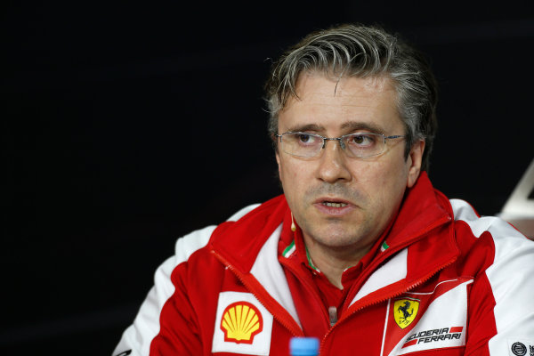 Nurburgring, Germany 5th July 2013 Pat Fry, Director of Chassis, Ferrari, in the Friday Press Conference World Copyright: Charles Coates/  ref: Digital Image _N7T9091