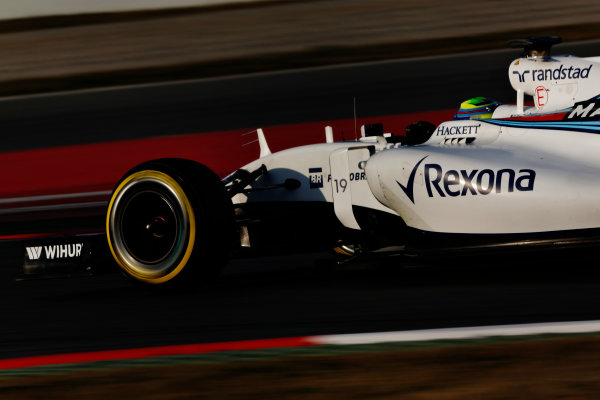 Circuit de Catalunya, Barcelona, Spain Thursday 25 February 2016. Felipe Massa, Williams FW38 Mercedes. World Copyright: Sam Bloxham/LAT Photographic ref: Digital Image _SBL8577