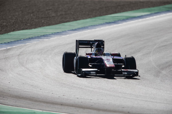 2017 FIA Formula 2 Round 10. Circuito de Jerez, Jerez, Spain. Friday 6 October 2017. Nabil Jeffri (MAS, Trident).  Photo: Andrew Ferraro/FIA Formula 2. ref: Digital Image _FER9952
