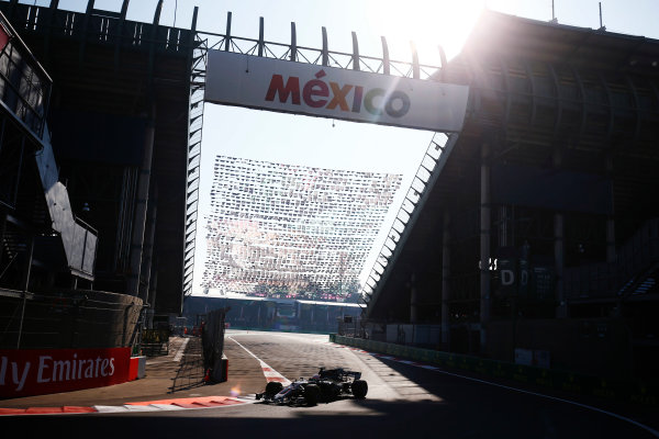 Autodromo Hermanos Rodriguez, Mexico City, Mexico. Friday 27 October 2017. Antonio Giovinazzi, Haas VF-17 Ferrari.  World Copyright: Andy Hone/LAT Images  ref: Digital Image _ONY3140