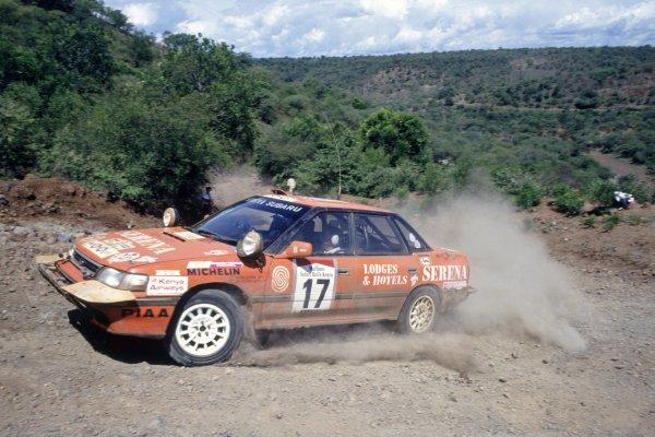 1990 World Rally Championship.Safari Rally, Kenya. 11-16 April 1990.Jim Heather-Hayes/Anton Levitan (Subaru Legacy RS), 6th position.World Copyright: LAT PhotographicRef: 35mm transparency 90RALLY11