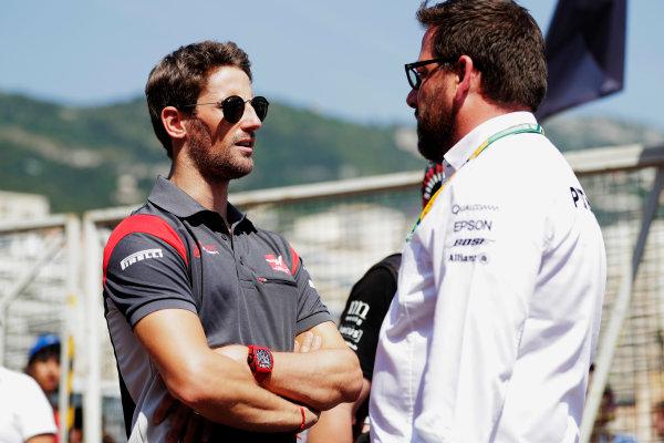 Monte Carlo, Monaco. Sunday 28 May 2017. Romain Grosjean, Haas F1.  World Copyright: Zak Mauger/LAT Images ref: Digital Image _56I7859