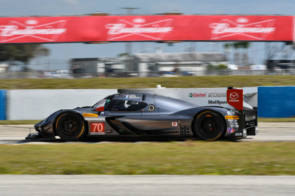 2017 WeatherTech SportsCar Championship - IMSA February Test Sebring International Raceway, Sebring, FL USA Friday 24 February 2017 70, Mazda DPi, P, Tom Long, Joel Miller, Marino Franchitti World Copyright: Richard Dole/LAT Images ref: Digital Image RD_2_17_178