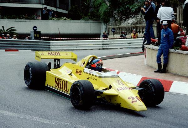 1980 Monaco Grand Prix.Monte Carlo, Monaco.15-18 May 1980.Emerson Fittipaldi (Fittipaldi F7 Ford) 6th position.Ref-80 MON 39.World Copyright - LAT Photographic