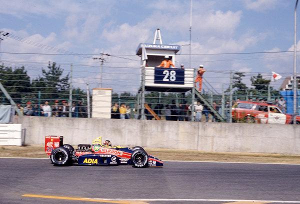 1988 Japanese Grand Prix.Suzuka, Japan.28-30 October 1988.Aguri Suzuki (Larrousse/Lola LC88 Ford).Ref-88 JAP 20.World Copyright - LAT Photographic