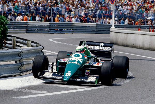 1986 Monaco Grand Prix. Monte Carlo, Monaco. 8-11 May 1986. Teo Fabi (Benetton B186 BMW). Ref-86 MON 65. World Copyright - LAT Photographic