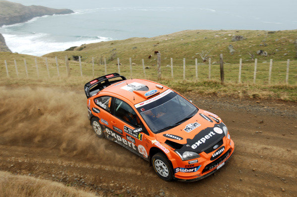 Henning Solberg (NOR) Ford Focus WRC on stage 19. Rally New Zealand, Auckland, New Zealand, Day Three, 9 May 2010.