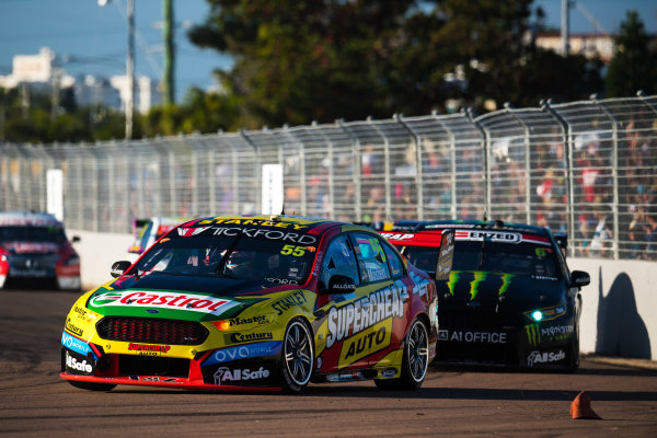 2017 Supercars Championship Round 7.  Townsville 400, Reid Park, Townsville, Queensland, Australia. Friday 7th July to Sunday 9th July 2017. Chaz Mostert drives the #55 Supercheap Auto Racing Ford Falcon FGX. World Copyright: Daniel Kalisz/ LAT Images Ref: Digital Image 080717_VASCR7_DKIMG_4196.NEF