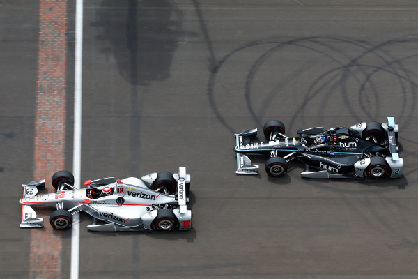 Verizon IndyCar Series Indianapolis 500 Race Indianapolis Motor Speedway, Indianapolis, IN USA Sunday 28 May 2017 Will Power, Team Penske Chevrolet and Josef Newgarden, Team Penske Chevrolet World Copyright: Russell LaBounty LAT Images