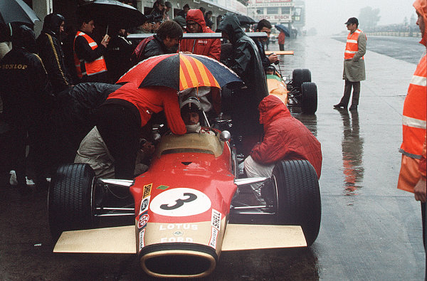 Nurburgring, Germany.2-4 August 1968.Graham Hill (Lotus 49B Ford) 2nd position.Ref-35mm 68 GER 07.World Copyright - LAT Photographic