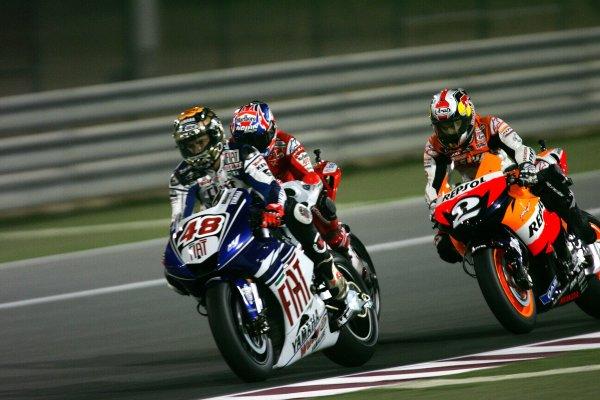 2008 MotoGP. Losail, Qatar. 7th - 9th March 2008. Rd 1. Jorge Lorenzo, Yamaha, 2nd position, action. World Copyright: Martin Heath/LAT Photographic. Ref: Digital Image Only.