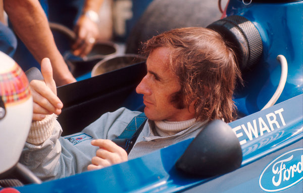 1973 Italian Grand Prix.Monza, Italy.7-9 September 1973.Jackie Stewart (Tyrrell Ford) 4th position.Ref-73 ITA 10.World Copyright - LAT Photographic