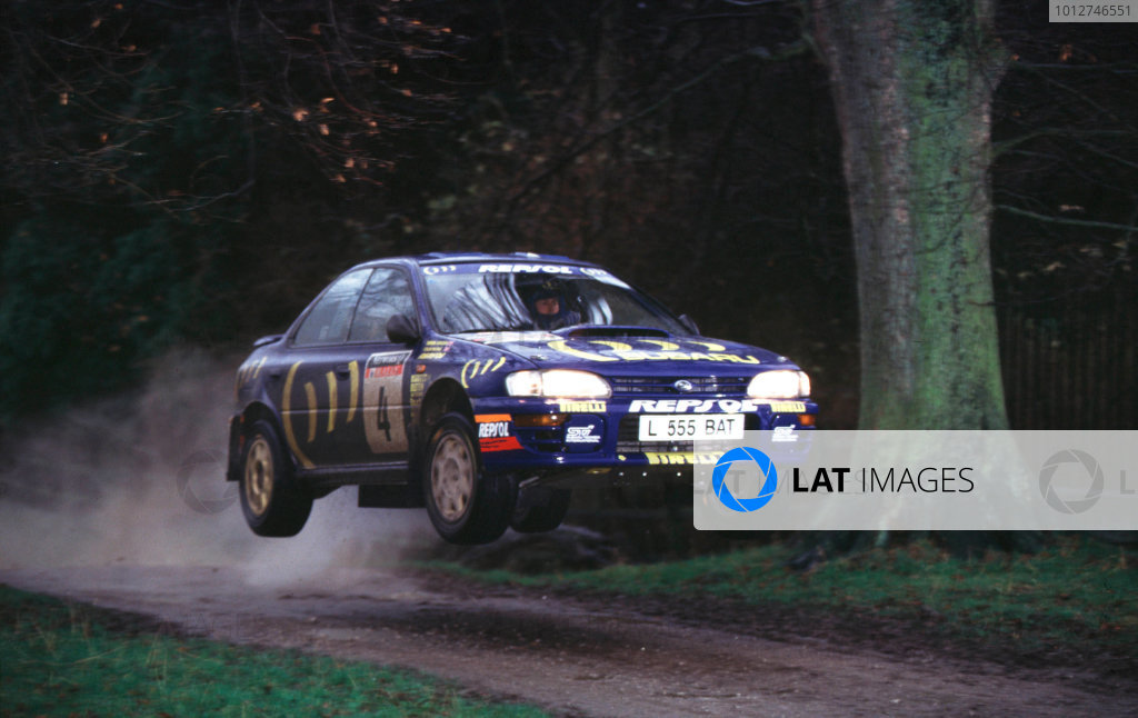 1994 World Rally Championship.RAC Rally, Great Britain.Colin McRae/Derek Ringer (Subaru Impreza 555), 1st position. McRae and Ringers first win on home soil.World - LAT Photographic