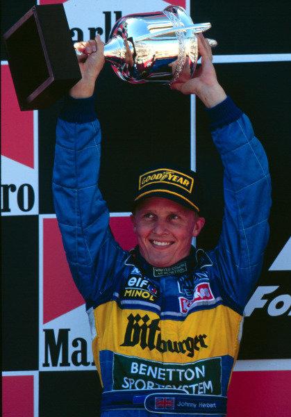 1995 Spanish Grand Prix.Catalunya, Barcelona, Spain.12-14 May 1995.Johnny Herbert (Benetton Renault) 2nd position.World Copyright - LAT Photographic