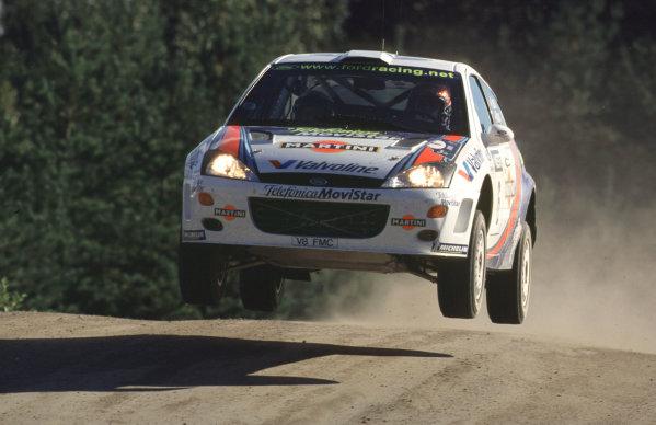 WRC Neste Rally of Finland 200017th - 20th August 2000. Rd 9/13.Carlos Sainz, Ford Focus, action.Photo:McKlein/LATRef 35mm A19