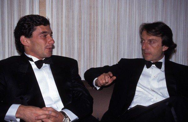 Ayrton Senna and Luca di Montezemolo.
