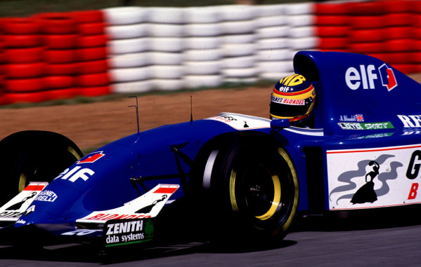 1993 South African Grand Prix.Kyalami, South Africa.12-14 March 1993.Mark Blundell (Ligier JS39 Renault) 3rd position.World Copyright - LAT Photographic