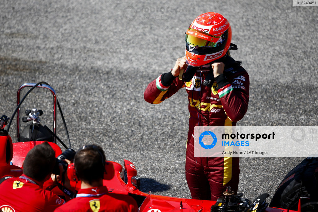 Mick Schumacher prepares to drive his father's championship winning Ferrari F2004