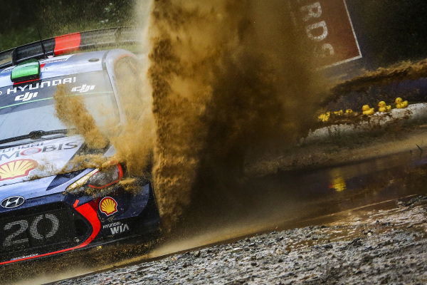 Hayden Paddon (NZL) / Sebastian Marshall (GBR), Hyundai Motorsport i20 Coupe WRC at World Rally Championship, Rd13, Rally Australia, Day Three, Coffs Harbour, New South Wales, Australia, 19 November 2017.