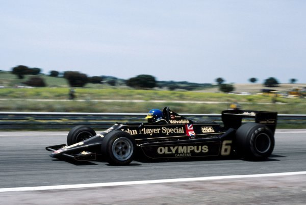 Ronnie Peterson (SWE) Lotus 79 finished the race in second position. Spanish Grand Prix, Rd 7, Jarama, Spain, 4 June 1978. BEST IMAGE