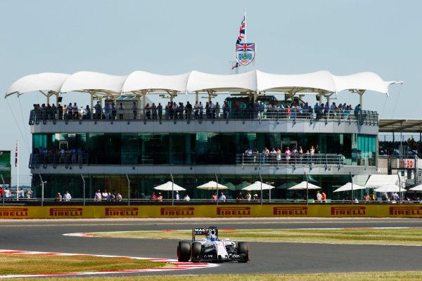 Silverstone Circuit, Northamptonshire, England. Friday 3 July 2015. Felipe Massa, Williams FW37 Mercedes. World Copyright: Andrew Ferraro/LAT Photographic ref: Digital Image _FER0631