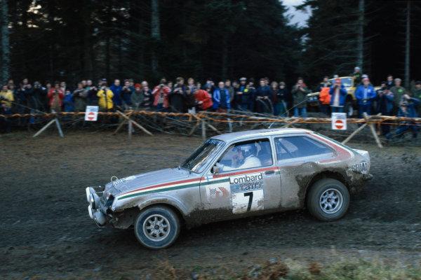 Lombard RAC Rally, Great Britain. 18-21 November 1979.Pentti Airikkala, Vauxhall Chevette, action.World Copyright: LAT Photographic