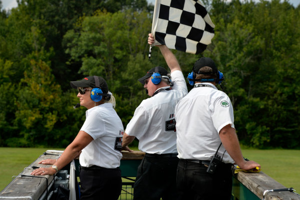 21-23 August 2015, Alton, Virginia USA IMSA Official, Starter, Checkered flag ?2015, Scott R LePage  LAT Photo USA