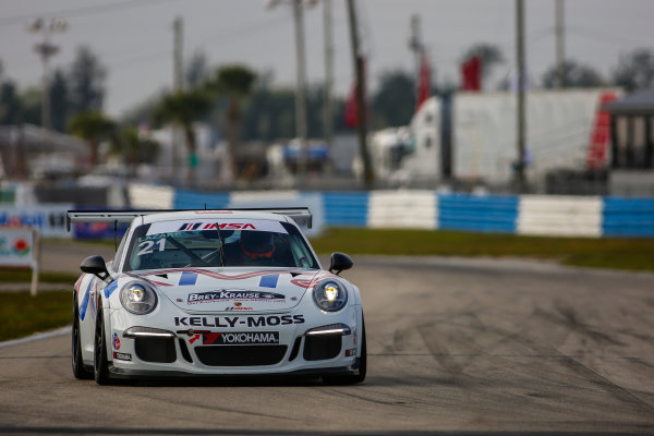 16-18 March, 2016, Sebring, Florida, USA 21, Jesse Lazare, Platinum, 2015 Porsche ?2016, Jake Galstad LAT Photo USA