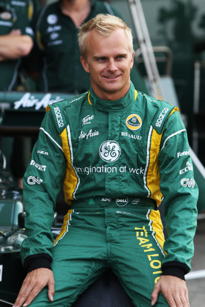 Heikki Kovalainen (FIN) Team Lotus at a team photo.