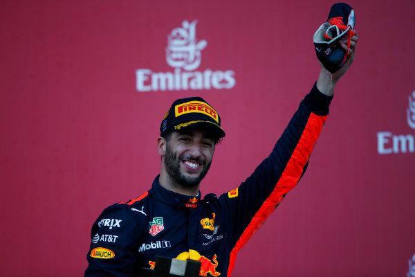 Baku City Circuit, Baku, Azerbaijan. Sunday 25 June 2017. Daniel Ricciardo, Red Bull Racing, 1st Position. World Copyright: Andrew Hone/LAT Images ref: Digital Image _ONY9228