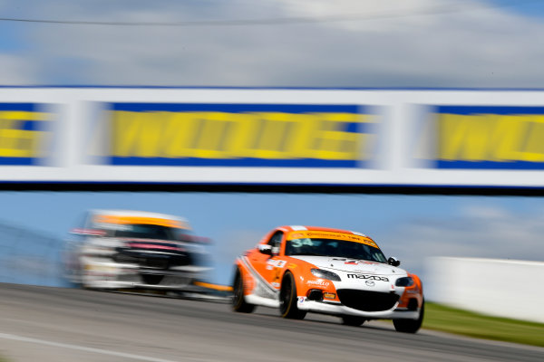 IMSA Continental Tire SportsCar Challenge Mobil 1 SportsCar Grand Prix Canadian Tire Motorsport Park Bowmanville, ON CAN Saturday 8 July 2017 34, Mazda, Mazda MX-5, ST, Christian Szymczak, Christopher Stone World Copyright: Scott R LePage/LAT Images