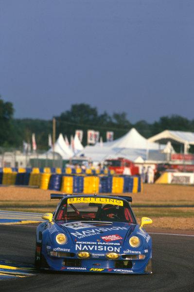 Le Mans, France. 6th - 7th June 1998.Claudia Hurtgen/Michel Ligonnet/Robert Nearn (Porsche 911 GT2), 17th position, action. World Copyright: LAT Photographic.Ref: 98LM07.