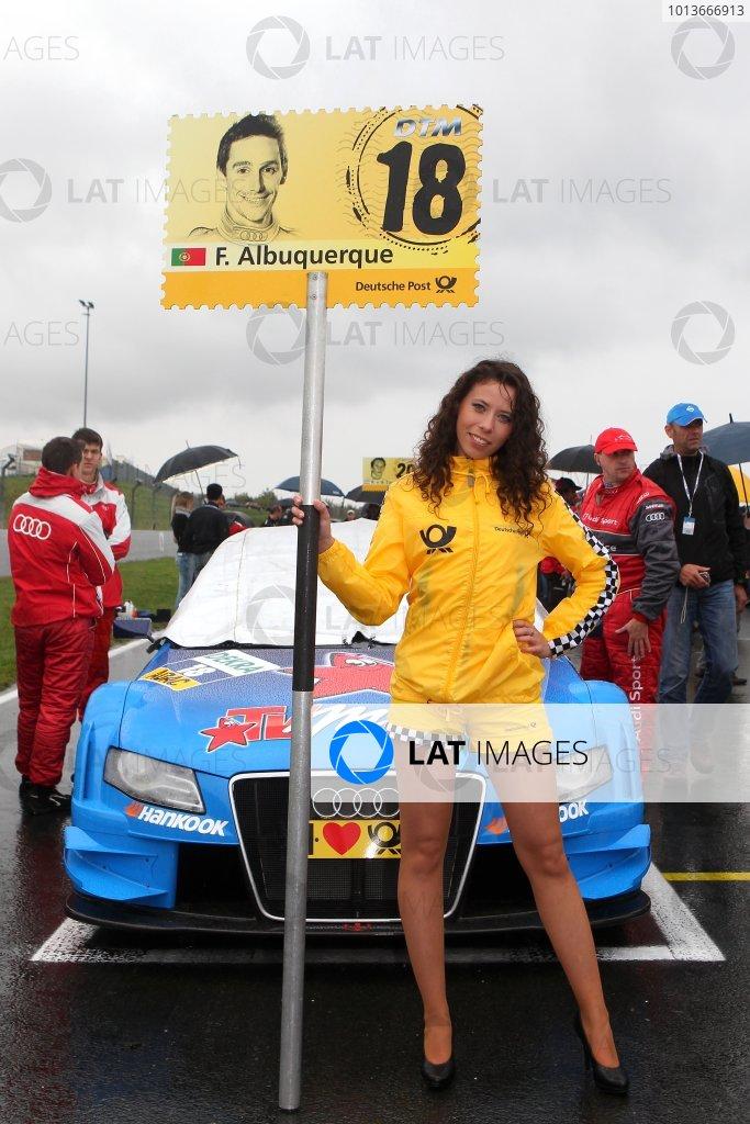 DTM grid girl.DTM, Rd8, Oschersleben, Germany, 16-18 September 2011 Ref: Digital Image dne1118se553