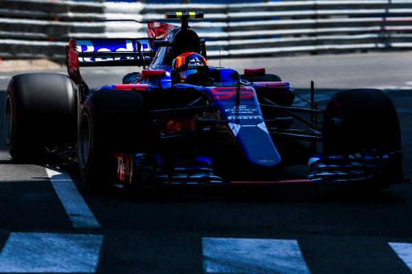 Monte Carlo, Monaco. Saturday 27 May 2017. Carlos Sainz Jr, Toro Rosso STR12 Renault. World Copyright: Charles Coates/LAT Images ref: Digital Image AN7T7523