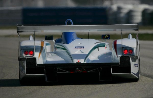 The rear of one of the two Champion Racing Audi R8 machines.American Le Mans Series Testing, Sebring, USA, 31 January - 3 February 2005.DIGITAL IMAGE