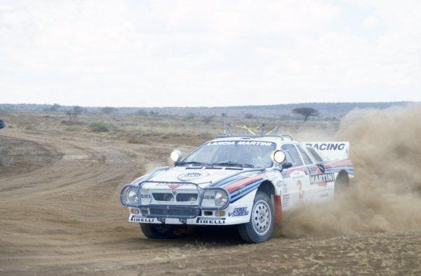1986 World Rally Championship.Safari Rally, Kenya. 29 March -2 April 1986.Markku Alen/Ilkka Kivimaki (Lancia Rally 037), 3rd position.World Copyright: LAT PhotographicRef: 35mm transparency 86RALLY
