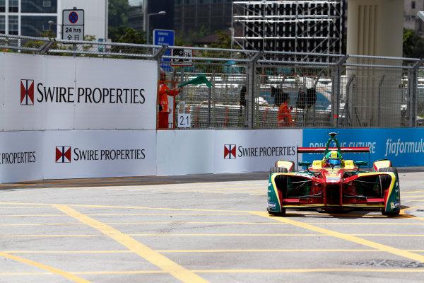FIA Formula E Hong Kong e-Prix. Second Practice Session. Lucas Di Grassi (BRA), ABT Schaeffler Audi Sport, Spark-Abt Sportsline, ABT Schaeffler FE02. Hong Kong Harbour, Hong Kong, Asia. Sunday 9 October 2016. Photo: Adam Warner / FE / LAT ref: Digital Image _14P5894