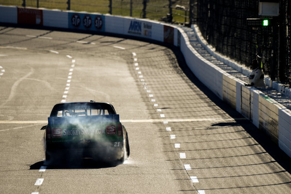 28-29 October, 2016, Martinsville, Virginia USA Johnny Sauter celebrates the win with a burn out ?2016, Scott R LePage  LAT Photo USA