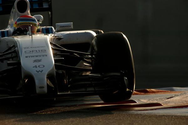 Yas Marina Circuit, Abu Dhabi, United Arab Emirates. Wednesday 26 November 2014. Felipe Nasr, Williams FW36 Mercedes. World Copyright: Glenn Dunbar/LAT Photographic. ref: Digital Image _89P8716