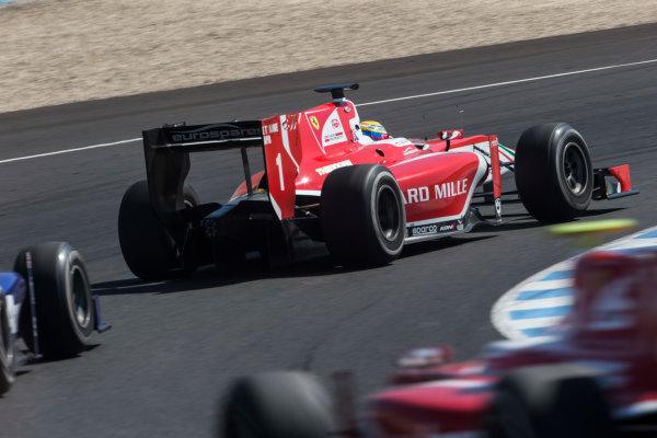 2017 FIA Formula 2 Round 10. Circuito de Jerez, Jerez, Spain. Sunday 8 October 2017. Charles Leclerc (MCO, PREMA Racing).  Photo: Andrew Ferraro/FIA Formula 2. ref: Digital Image _FER3533