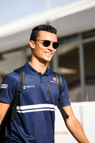 Circuit of the Americas, Austin, Texas, United States of America. Thursday 19 October 2017. Pascal Wehrlein, Sauber. World Copyright: Charles Coates/LAT Images  ref: Digital Image DJ5R1777