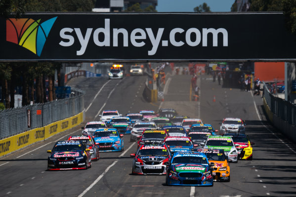2015 V8 Supercars Round 14. Sydney 500, Sydney Olympic Park, Sydney, Australia. Friday 4th December - Sunday 6th December 2015. Mark Winterbottom drives the #5 Prodrive Racing Australia Ford FG X Falcon. World Copyright: Daniel Kalisz/LAT Photographic  Ref: Digital Image V8SCR14_SYDNEY500_DKIMG2174.JPG