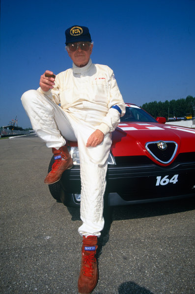 Monza, Italy. 10-12 September 1993.Professor Sid Watkins, FIA Medical Delegate, portrait. World Copyright: LAT Photographic.Ref:  Colour Transparency